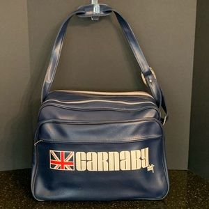 Vintage Carnaby Vinyl Duffle Bag by Dubl Duck.